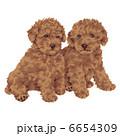 子犬 犬 いぬのイラスト 6654309