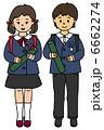 小学生 卒業 子供のイラスト 6662274