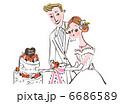 ウエディングケーキ 6686589