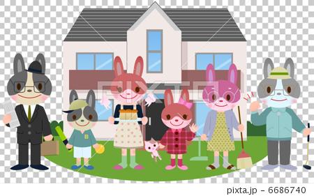 토끼 세 가족 6686740