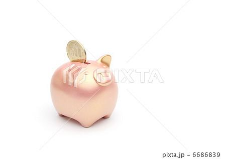 豚の貯金箱 銅 500円 6686839