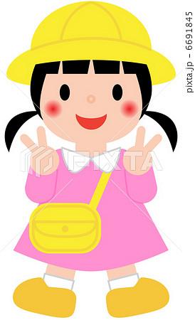 幼稚園児 保育園児 女の子のイラスト素材 6691845 Pixta
