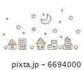 住宅地 住宅街 街のイラスト 6694000