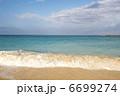 砂浜と青い海と白い雲、ハワイ、オアフ島、カイルアビーチ、横位置-1 6699274