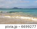 砂浜と青い海と白い雲、カイルアビーチ、オアフ島、ハワイ-1 6699277