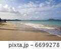 砂浜と青い海と白い雲、カイルアビーチ、オアフ島、ハワイ-2 6699278