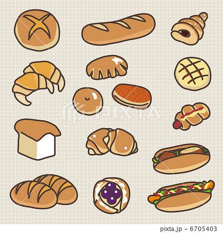 色々な種類のパン 6705403