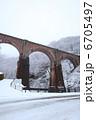 冬の碓氷峠めがね橋 6705497