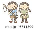 虫捕り 虫取り 子供のイラスト 6711809
