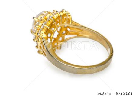 Jewellery ring isolated on whiteの写真素材 [6735132] - PIXTA