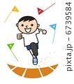かけっこ 徒競走 ベクターのイラスト 6739584
