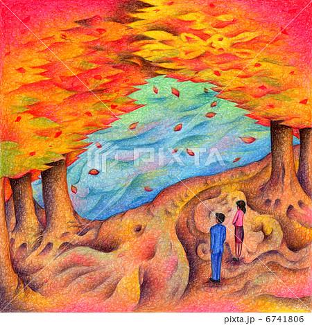 秋の紅葉 6741806