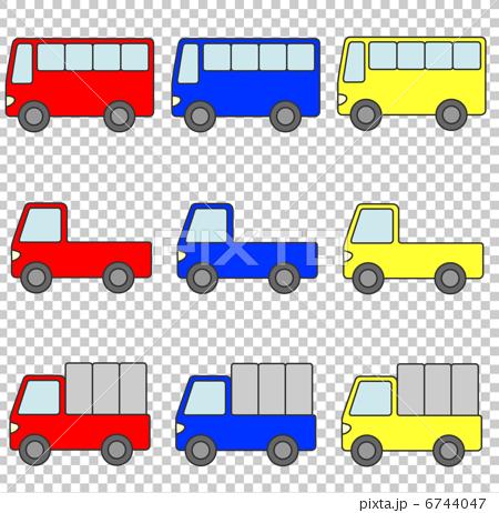 自動車 商用車セット 赤青黄 6744047