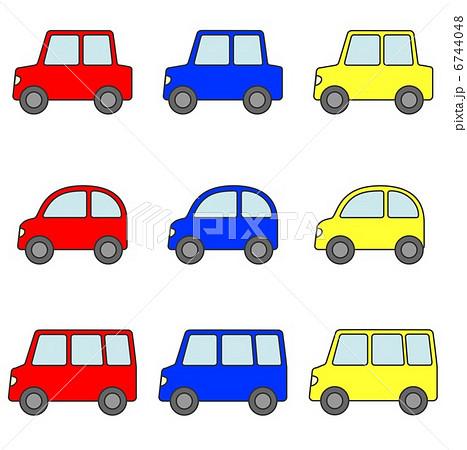 自動車 自家用車セット 赤青黄 6744048
