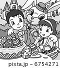 復活祭 イースターエッグ 子供のイラスト 6754271