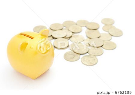 豚の貯金箱 金 500円 6762189
