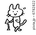 動物 猫 子猫のイラスト 6782822