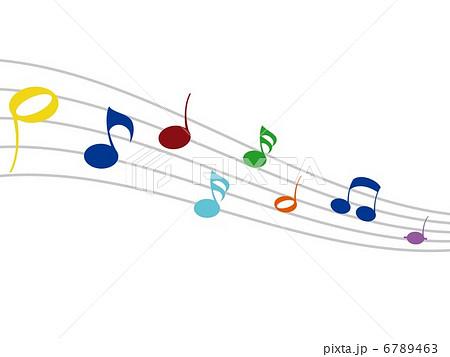 かわいい音符のイラスト素材 6789463 Pixta
