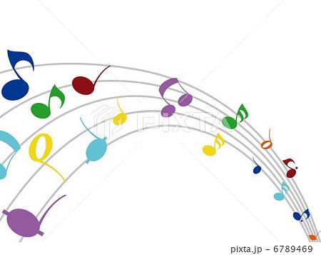 かわいい音符のイラスト素材 6789469 Pixta