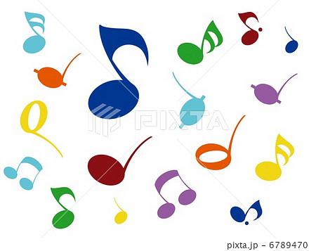 かわいい音符のイラスト素材 6789470 Pixta