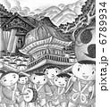 秋祭り 村祭り お祭りのイラスト 6789934