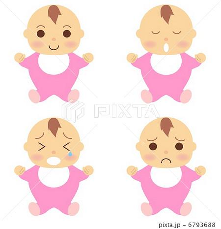 赤ちゃん 服 ピンクのイラスト素材 6793688 Pixta