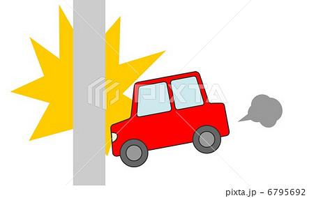 自動車事故 電柱 6795692