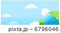鳥 空 地球のイラスト 6796046