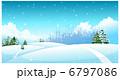 降雪 雪降り 坂のイラスト 6797086