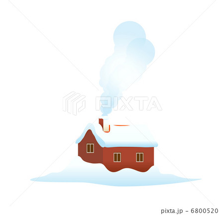 vector icon house in the snow 6800520