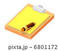 ペン ふで 紙のイラスト 6801172
