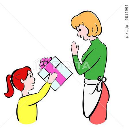 お母さんへのプレゼントのイラスト素材 6812995 Pixta