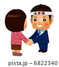 有権者と握手する男性候補者 6822340