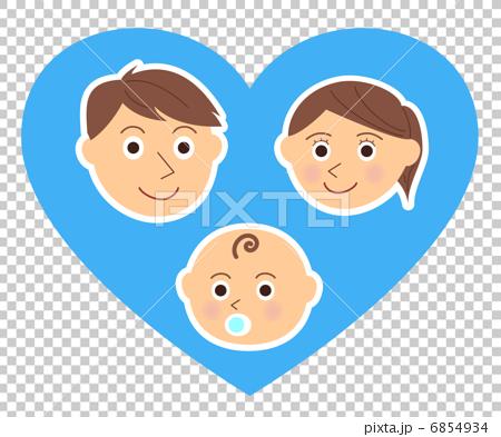 家族 顔 赤ちゃん ハート 6854934