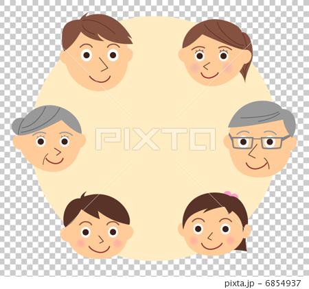 家族 顔 三世代 6854937