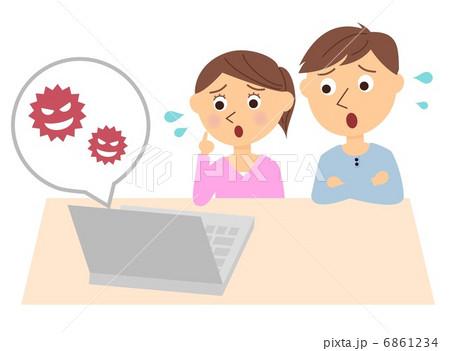 夫婦 パソコン ウイルス 6861234