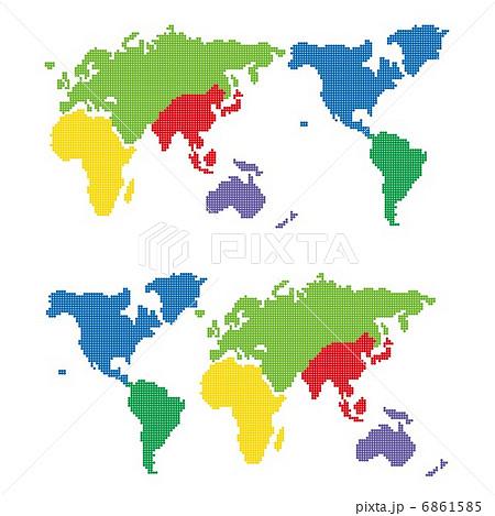 ドットの世界地図 6861585