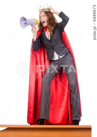 Businesswoman in superwoman concept 6888673
