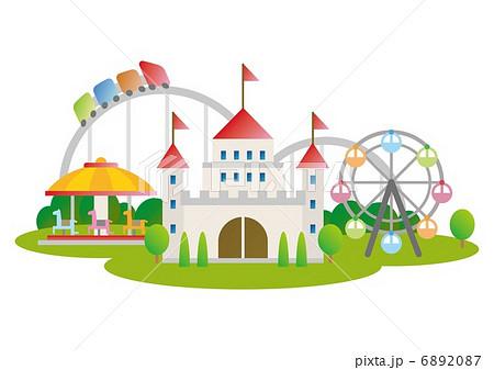 遊園地のイラスト素材 6892087 Pixta