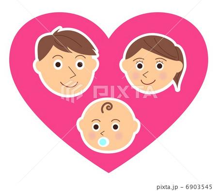 家族 顔 赤ちゃん ハート 6903545