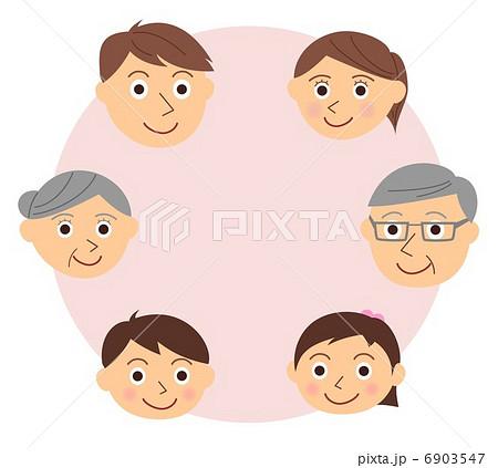 家族 顔 三世代 6903547