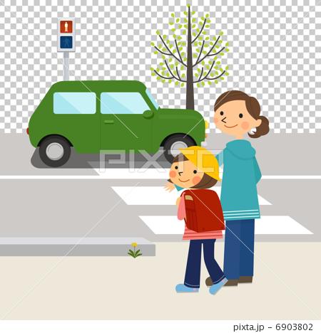 父母和孩子馬路對面 6903802