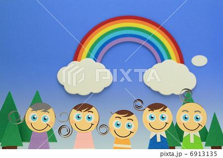 ペーパークラフト家族 6913135
