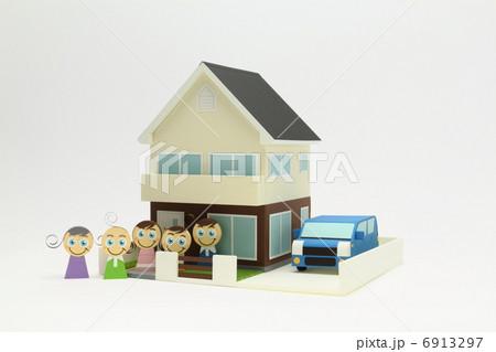 ペーパークラフト家族 6913297