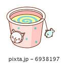 子猫 バケツ サカナのイラスト 6938197