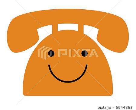 電話のキャラクターのイラスト素材 6944863 Pixta