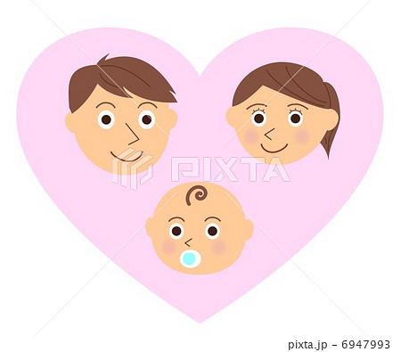 家族 顔 赤ちゃん ハート 6947993