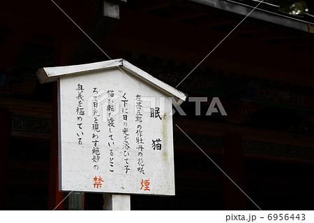 日光東照宮眠り猫の説明看板 6956443