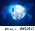 ネットワーク 世界地図 光通信のイラスト 6958612