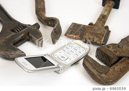 Tools and telephone.の写真素材 [6963039] - PIXTA